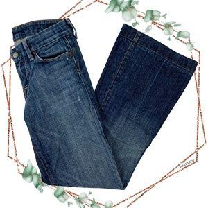 COH faye stretch low waist full leg jeans size 24